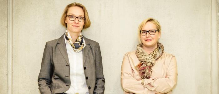 v.l.: CFO | Co-Founder Julia Janning & CEO | Co-Founder Katrin Pape (© Kristina Becker – Photovisionen.com)