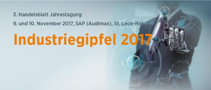 3. Handelsblatt Jahrestagung – Industriegipfel | 09. – 10. November 2017 | St. Leon-Rot