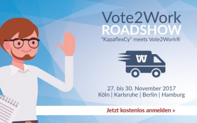 Vote2Work® Roadshow | 27. – 30. November 2017 | Köln – Karlsruhe – Berlin – Hamburg