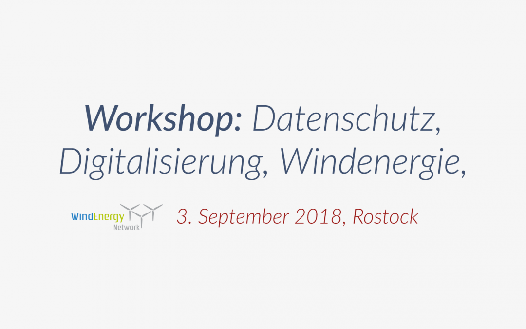 WindEnergy Network: Workshop Digitalisierung